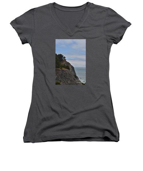 Cliff Hanger Women's V-Neck T-Shirt