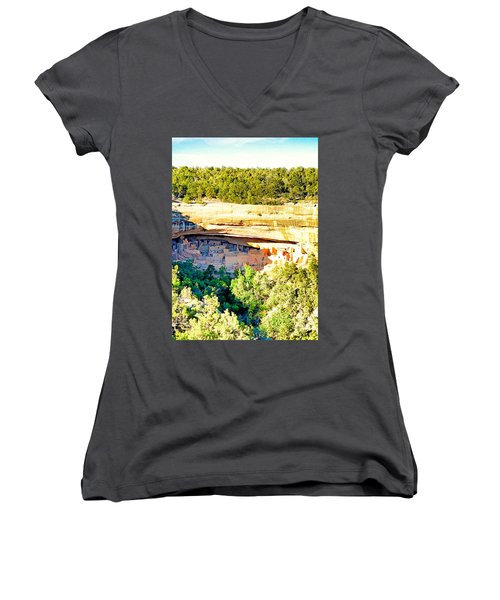 Cliff Palace Study 1 Women's V-Neck (Athletic Fit)