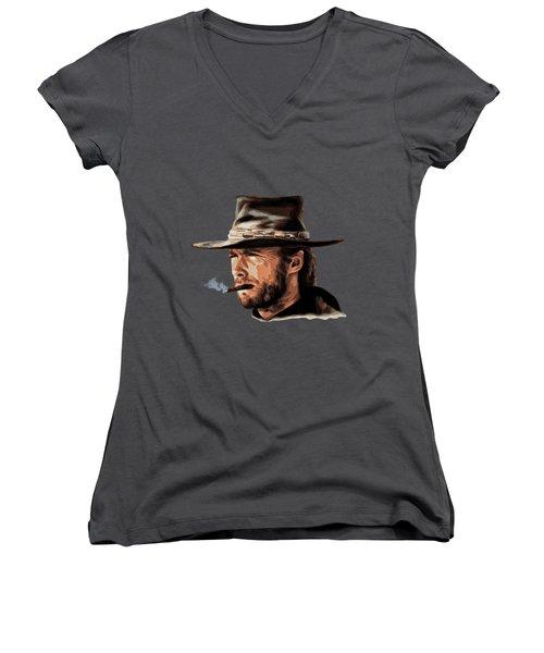 Clint Women's V-Neck T-Shirt (Junior Cut) by Andrzej Szczerski
