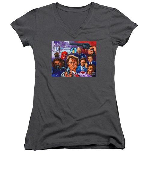 Clint Women's V-Neck T-Shirt (Junior Cut) by Michael Frank