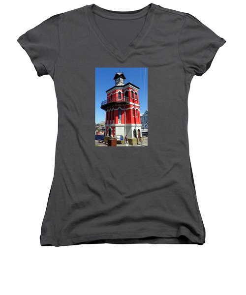 Clock Tower Cape Town Women's V-Neck T-Shirt (Junior Cut) by John Potts