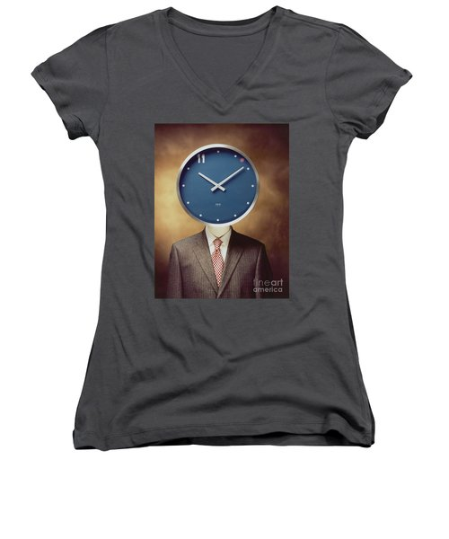 Clockhead Women's V-Neck (Athletic Fit)