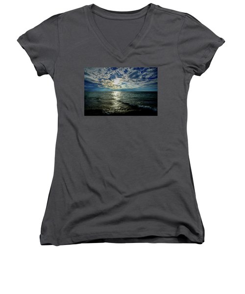 Close To Sunset... Women's V-Neck (Athletic Fit)