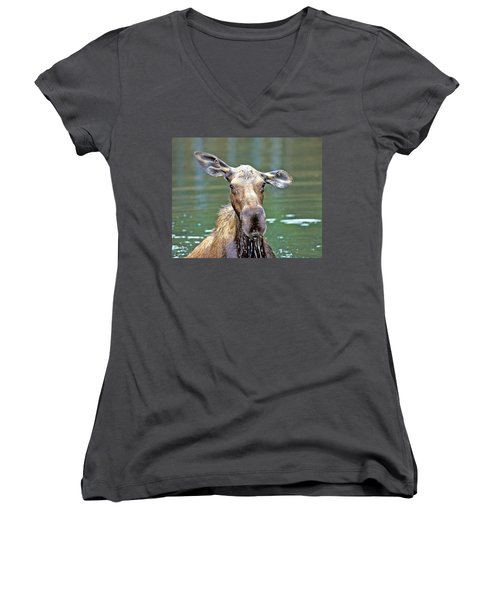 Close Wet Moose Women's V-Neck (Athletic Fit)