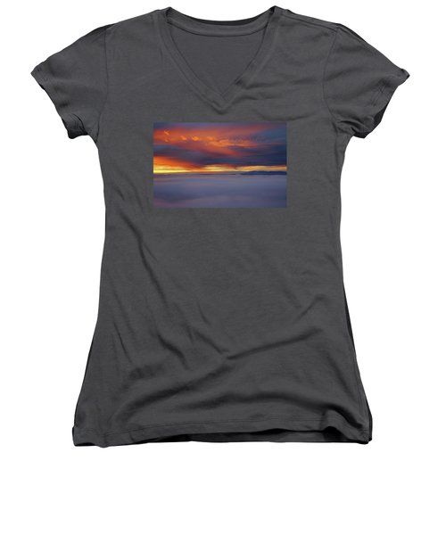Cloud Layer Sunrise At Dead Horse Point State Park Women's V-Neck (Athletic Fit)
