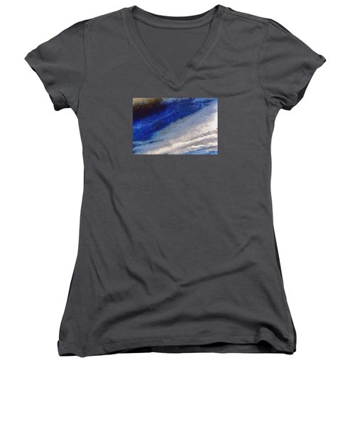Women's V-Neck T-Shirt (Junior Cut) featuring the photograph Clouds 10 by Spyder Webb