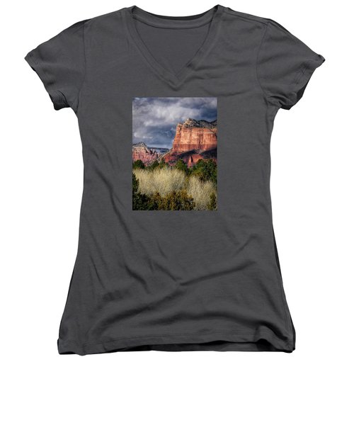 Clouds Over Sedona Women's V-Neck