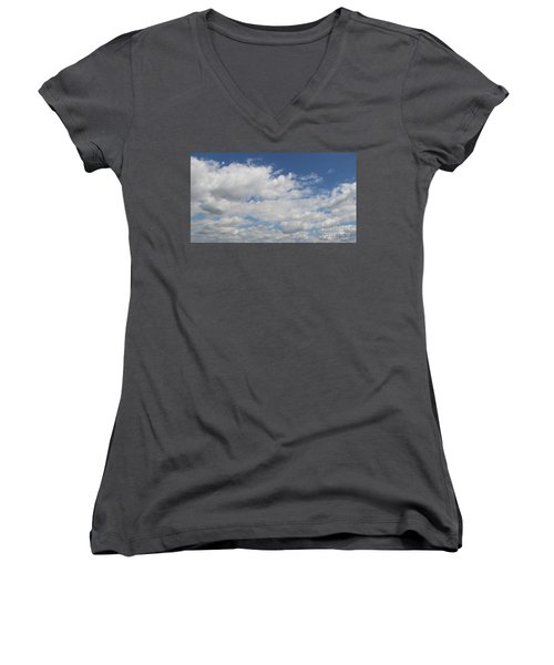 Clouds 17 Women's V-Neck T-Shirt (Junior Cut) by Rod Ismay