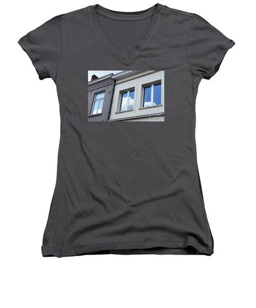 Cloudy Windows Women's V-Neck
