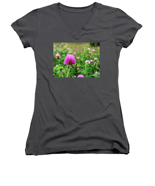 Clover Field Women's V-Neck (Athletic Fit)