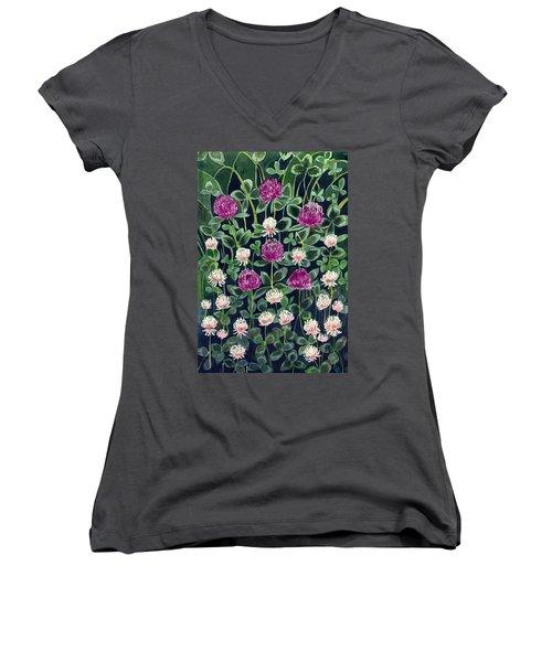 Clover Women's V-Neck T-Shirt