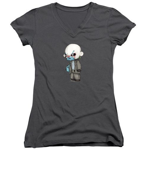 Clown Bank Robber Plush Women's V-Neck (Athletic Fit)