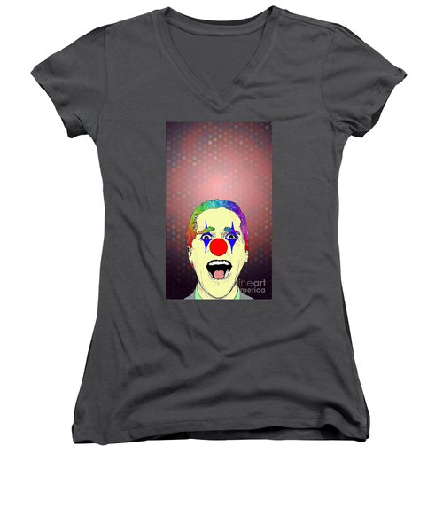 clown Christian Bale Women's V-Neck (Athletic Fit)