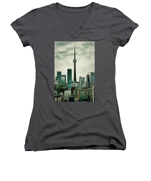 Cn Tower Women's V-Neck (Athletic Fit)