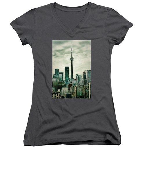Cn Tower Women's V-Neck T-Shirt