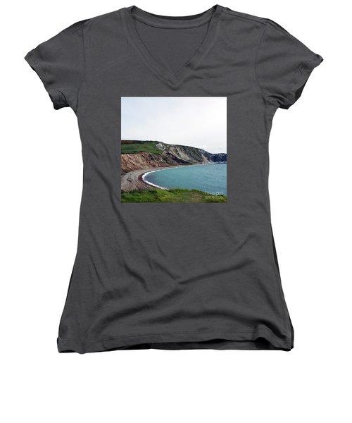 Coastal Arch Women's V-Neck T-Shirt (Junior Cut) by Sebastian Mathews Szewczyk