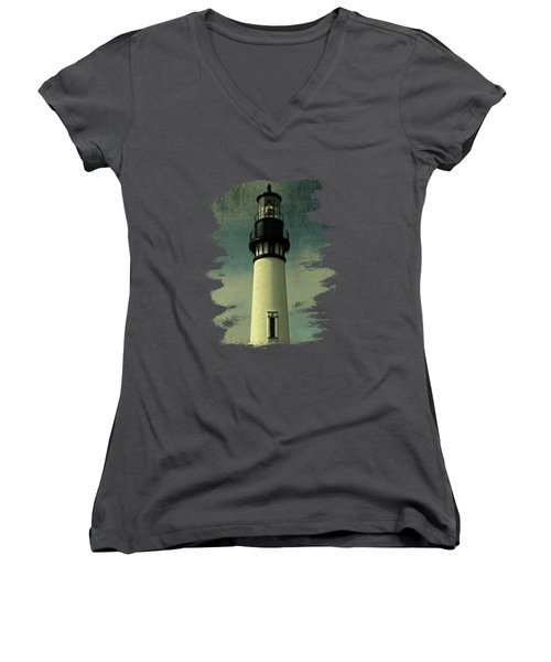 Coastal Breeze At Yaquina Head Women's V-Neck (Athletic Fit)