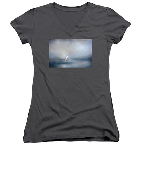 Coastal Egret Women's V-Neck