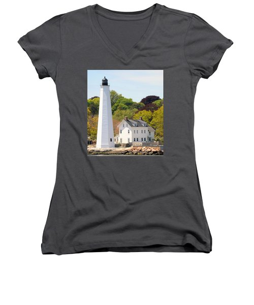 Coastal Lighthouse-c Women's V-Neck