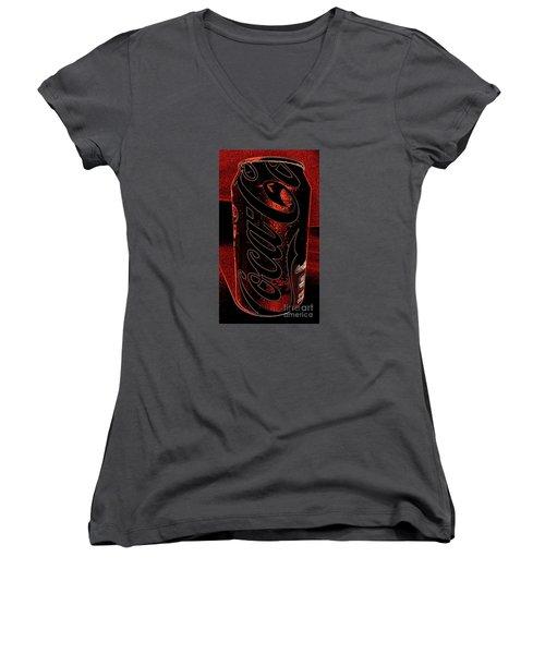 Coca Cola Can Coin Safe Women's V-Neck T-Shirt