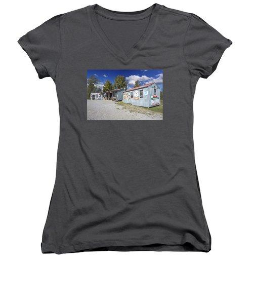 Cockspur Farm Women's V-Neck T-Shirt (Junior Cut) by Ricky Dean