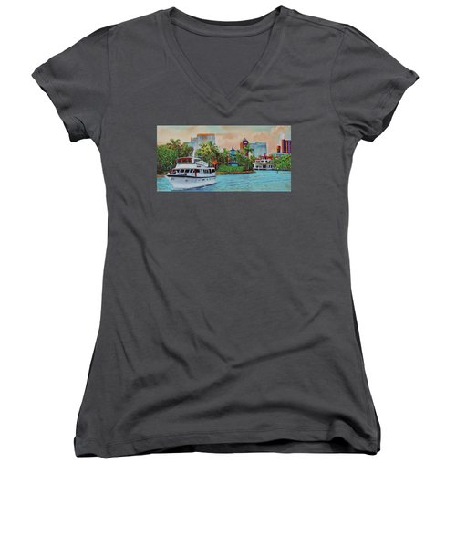 Cocktails On The New River Women's V-Neck (Athletic Fit)