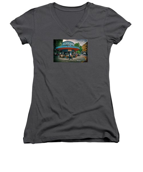 Coffee Caffeine High At 7,000 Feet Women's V-Neck (Athletic Fit)