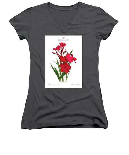 Cog  Nerium Oleander Emile Sahut Women's V-Neck