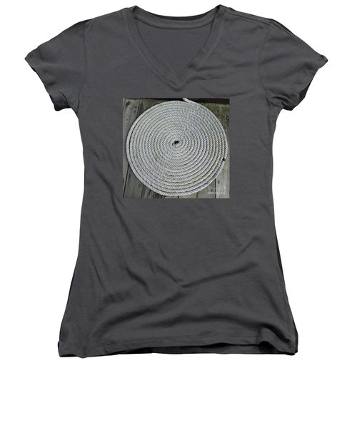 Coiled By D Hackett Women's V-Neck T-Shirt (Junior Cut) by D Hackett
