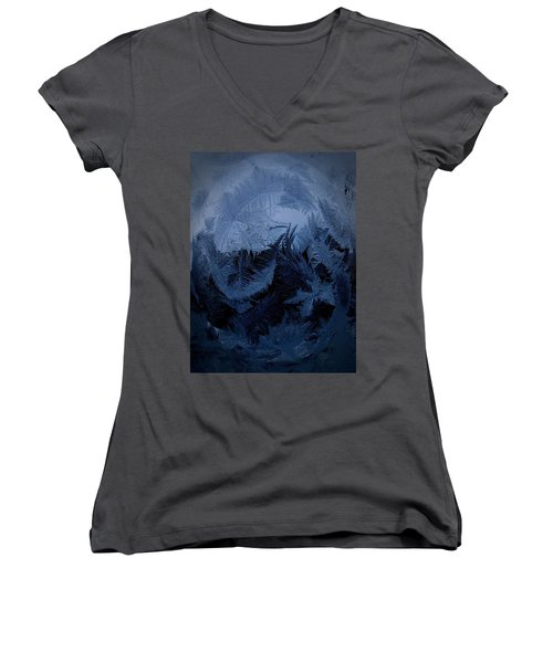 Cold Moon Rising Women's V-Neck T-Shirt
