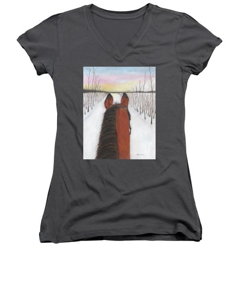 Cold Ride Women's V-Neck T-Shirt