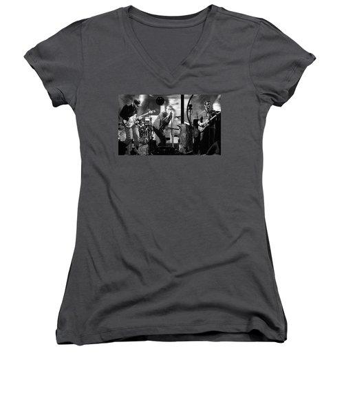 Coldplay 15 Women's V-Neck T-Shirt (Junior Cut) by Rafa Rivas