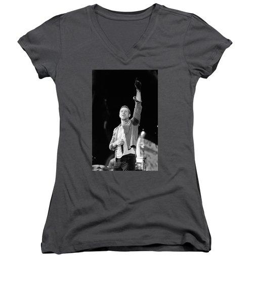 Coldplay 16 Women's V-Neck T-Shirt (Junior Cut) by Rafa Rivas
