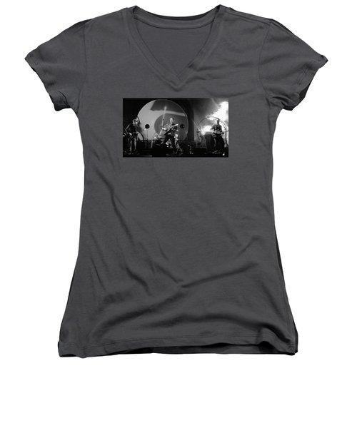 Coldplay12 Women's V-Neck T-Shirt (Junior Cut) by Rafa Rivas