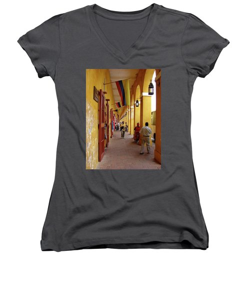 Colombia Walkway Women's V-Neck T-Shirt