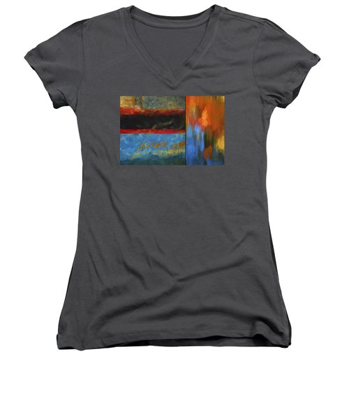 Color Abstraction Li  Women's V-Neck