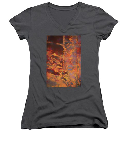 Color Abstraction Lxxi Women's V-Neck (Athletic Fit)