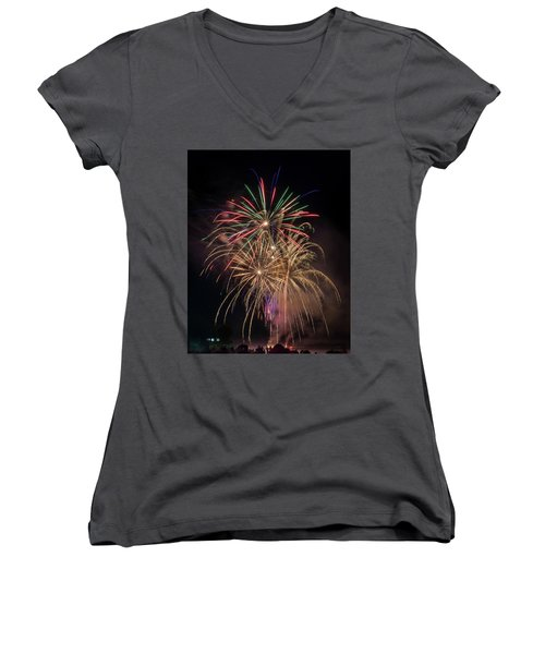 Women's V-Neck T-Shirt featuring the photograph Color And Chaos by Bill Pevlor