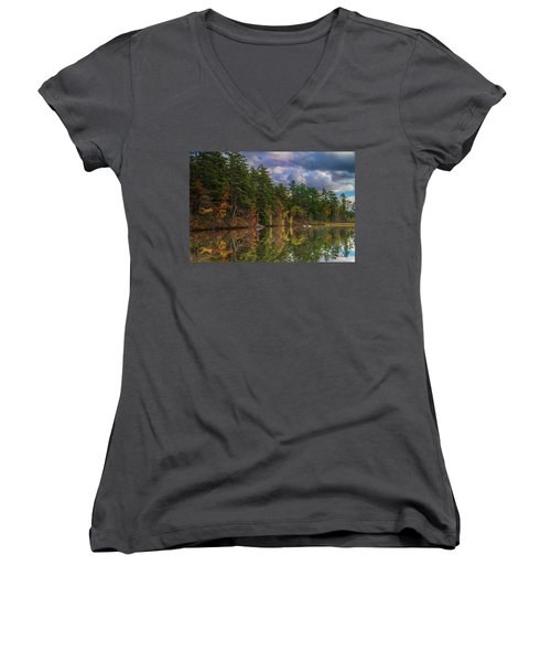 Color At Songo Pond Women's V-Neck