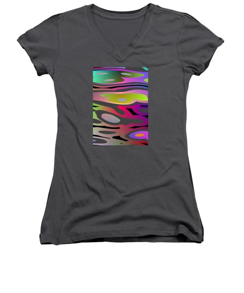 Color Fun 1 Women's V-Neck T-Shirt
