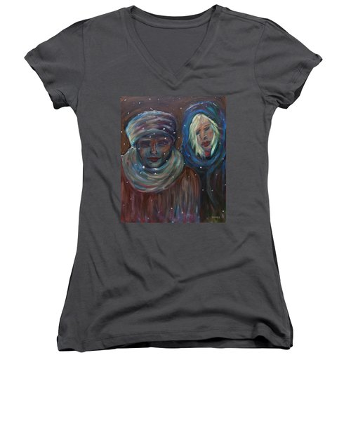 Color Of Winter Women's V-Neck