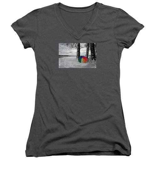 Color To The Melancholy Women's V-Neck