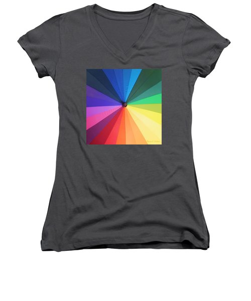 Color Wheel Women's V-Neck