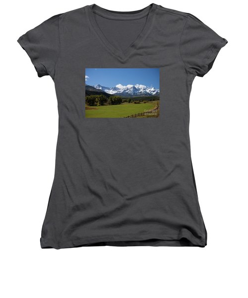 Colorado Ranch Women's V-Neck (Athletic Fit)