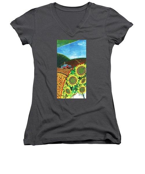 Colorado Sunflowers Women's V-Neck