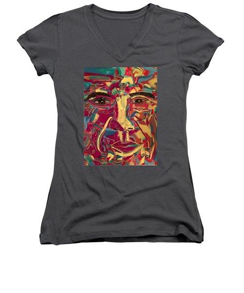 Colored Man Women's V-Neck