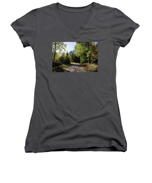 Women's V-Neck T-Shirt featuring the photograph Colorful Adventure by Kennerth and Birgitta Kullman