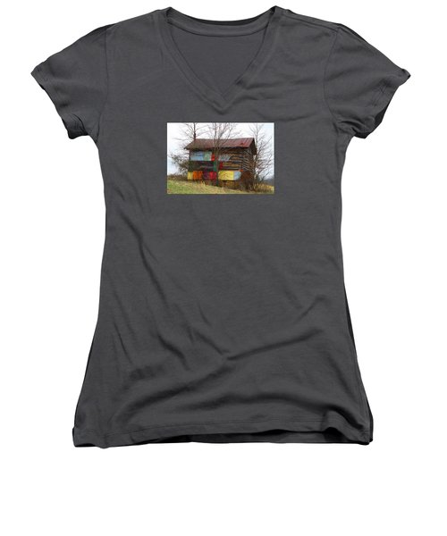 Colorful Barn Women's V-Neck (Athletic Fit)