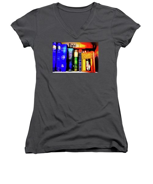 Women's V-Neck T-Shirt (Junior Cut) featuring the photograph Colorful Classics by Toni Hopper