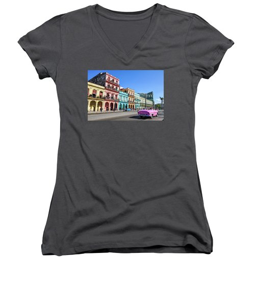 Colorful Havana Women's V-Neck (Athletic Fit)